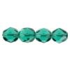 Fire Polished 7mm Transparent Emerald